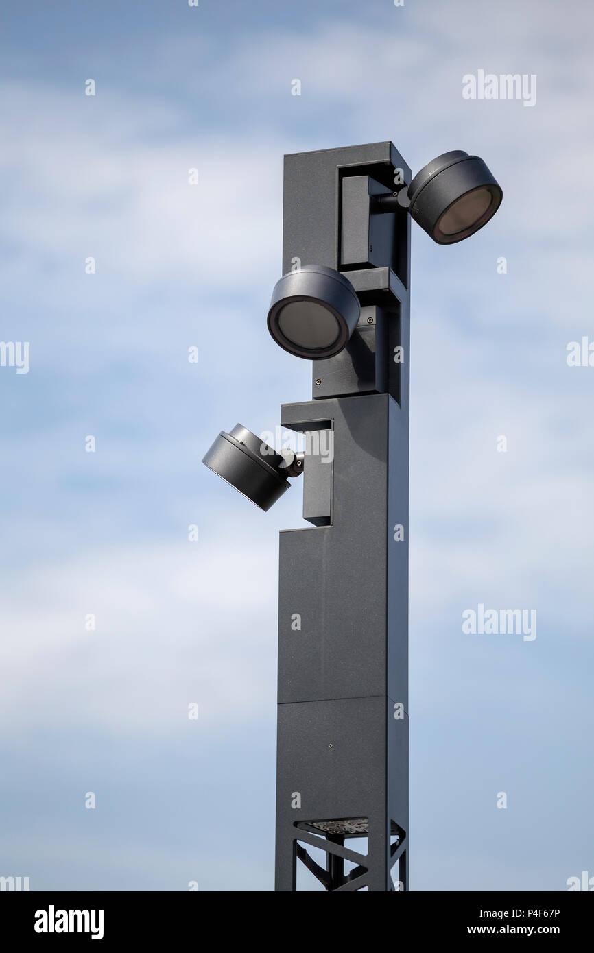 detail of modern lamp post modern