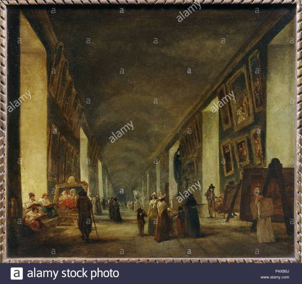 Hubert Robert View Of Grand Louvre