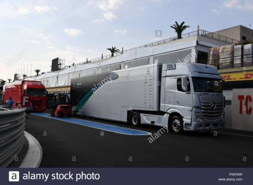 small resolution of circuit paul ricard france june 19 mercedes amg f1 truck during the french
