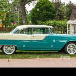 Dearborn Mi Usa June 16 2018 A 1955 Pontiac Chieftain V8 Car At The The Henry Ford Thf Motor Muster Car Show Held At Greenfield Village Stock Photo Alamy