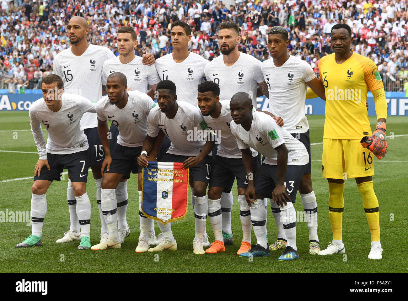 At the world cup this summer. Moscow Russia 26th June 2018 Soccer Fifa World Cup 2018 Denmark Vs France Group Stages Group C 3rd Matchday Luzhniki Stadium The French National Team Poses For A Team Photo Credit Federico