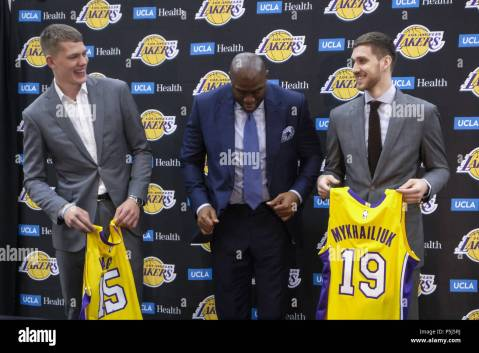 Image result for lakers rookie 2018 press conference picture