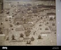 Map Of Garden Eden Stock &