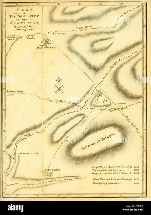 small resolution of n a english diagram of the three battles of sarbakusa actions of 23 may 1772 1790 james bruce 242 bruce battles of sarbakusa03