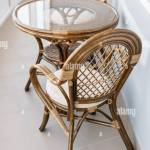 Glass Table And Rattan Wicker Seat Chair Wicker Furniture