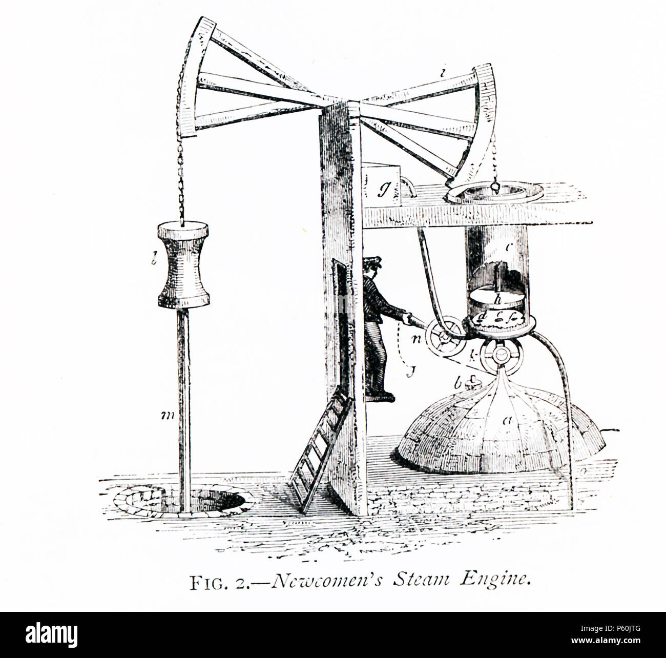 hight resolution of this 1870s illustration shows how newcomen s steam engine worked english inventor thomas newcomen 1664 1729 invented the first practical steam engine in