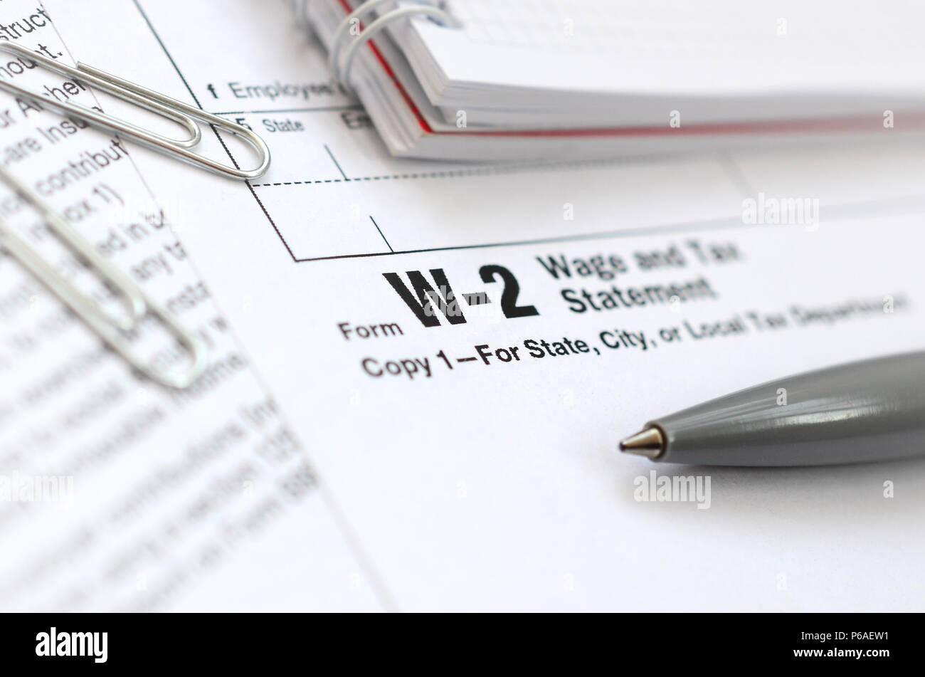 W2 Tax Form Stock Photos Amp W2 Tax Form Stock Images