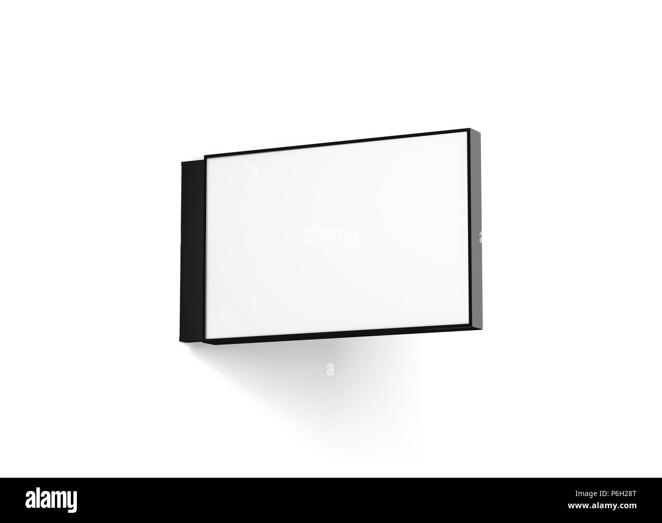 Jump start your school, work, or family project with a. Blank Horizontal Store Signage Design Mockup Isolated 3d Rendering Empty Rectangular Light Box Mock Up Clear Shop Lightbox Template Street Sign Hanging Mounted On The Wall Signplate Stock Photo Alamy