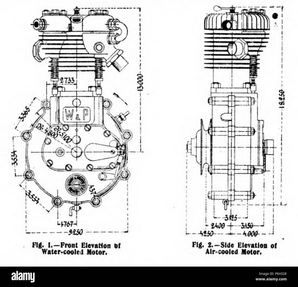medium resolution of 1904 white poppe motorcycle engine elevations
