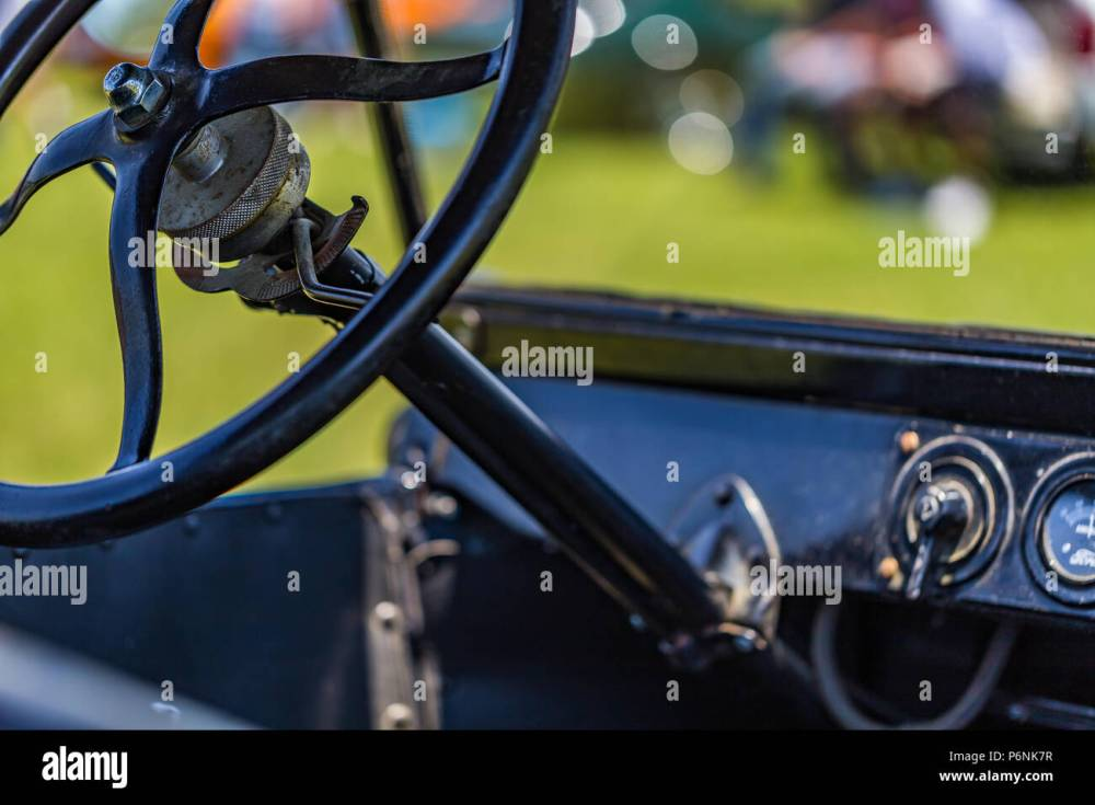 medium resolution of wiring up model t shallow depth of field closeup of the steering wheel mechanism on ashallow depth of field closeup