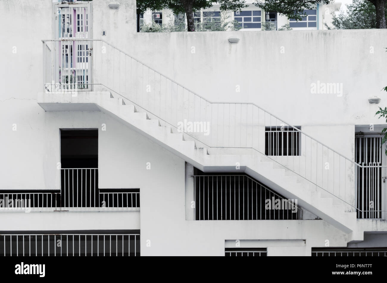 Stairway Wall Window High Resolution Stock Photography And Images | Staircase Window Design Exterior | Round Shape Window | Car Parking | 2Nd Floor House Front Elevation | Section Window | Corner Window