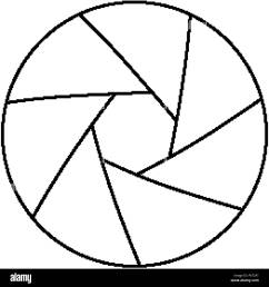 simple thinline icon of photo camera lens aperture [ 1300 x 1390 Pixel ]