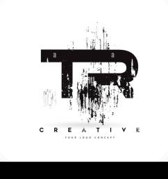 tr t r grunge brush letter logo design in black colors creative brush letters vector illustration  [ 1300 x 925 Pixel ]