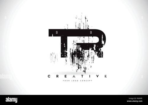 small resolution of tr t r grunge brush letter logo design in black colors creative brush letters vector illustration