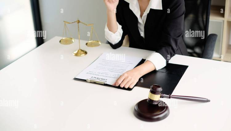 Lawyer Working On A Documents Legal Law Advice And