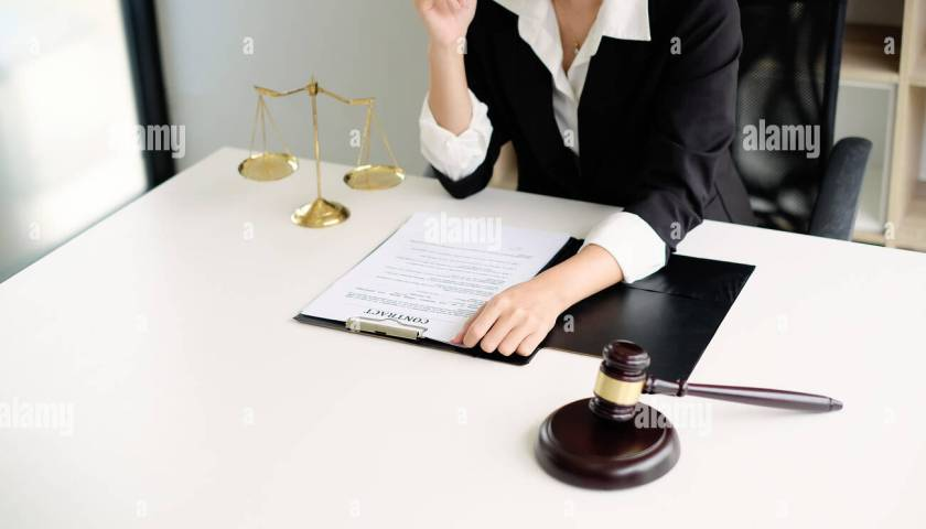 Lawyer Working On A Documents Legal Law Advice And Justice Concept Stock Photo 210797601 Alamy