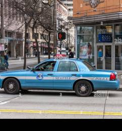 blue seattle police department ford crown victoria car on the streets of seattle stock image [ 1300 x 956 Pixel ]