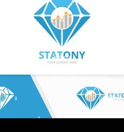 vector diamond and graph logo combination jewelry and diagram symbol or icon unique gem and chart logotype design template  [ 1300 x 864 Pixel ]
