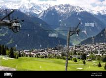 View High Verbier Swiss Mountains Stock &