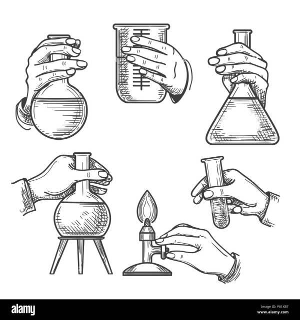 Retro chemical experiments Vintage science laboratory
