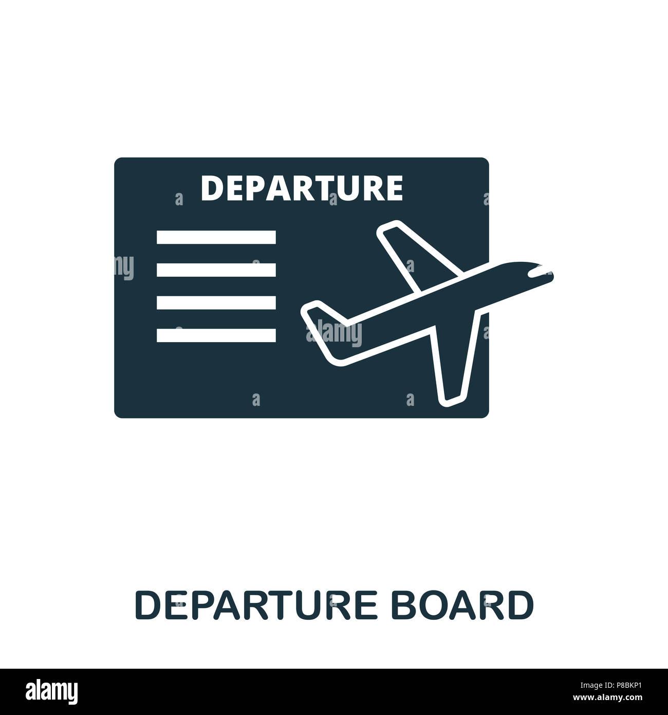 departure board icon line