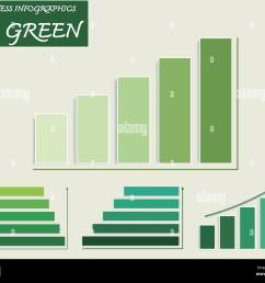 business and marketing go green concepts vector set of green bar charts and steps of pyramid diagram infographics background or template diagram with [ 1300 x 1065 Pixel ]