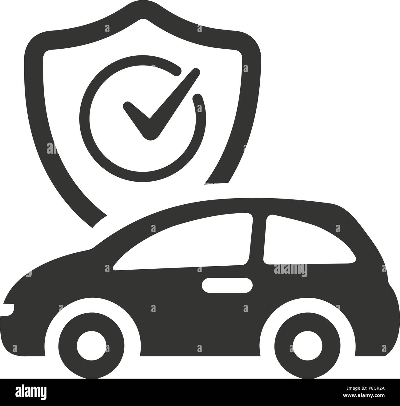 Auto Insurance Icon Stock Vector Image Art Alamy