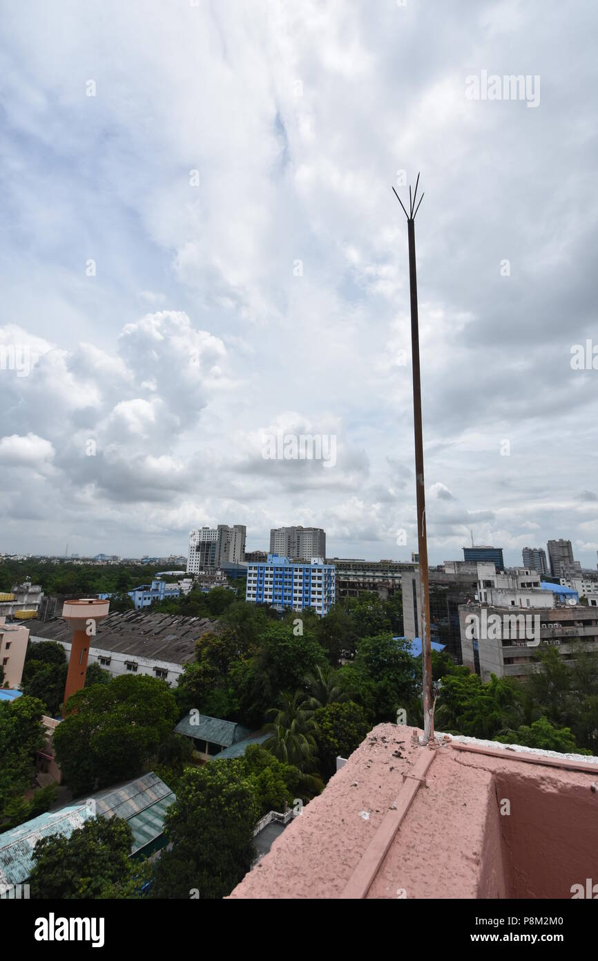 Electric Fireplace India Lightning Arrester Stock Photos & Lightning Arrester Stock