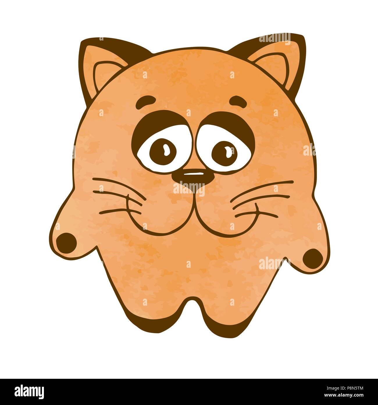 cute cartoon cat isolated