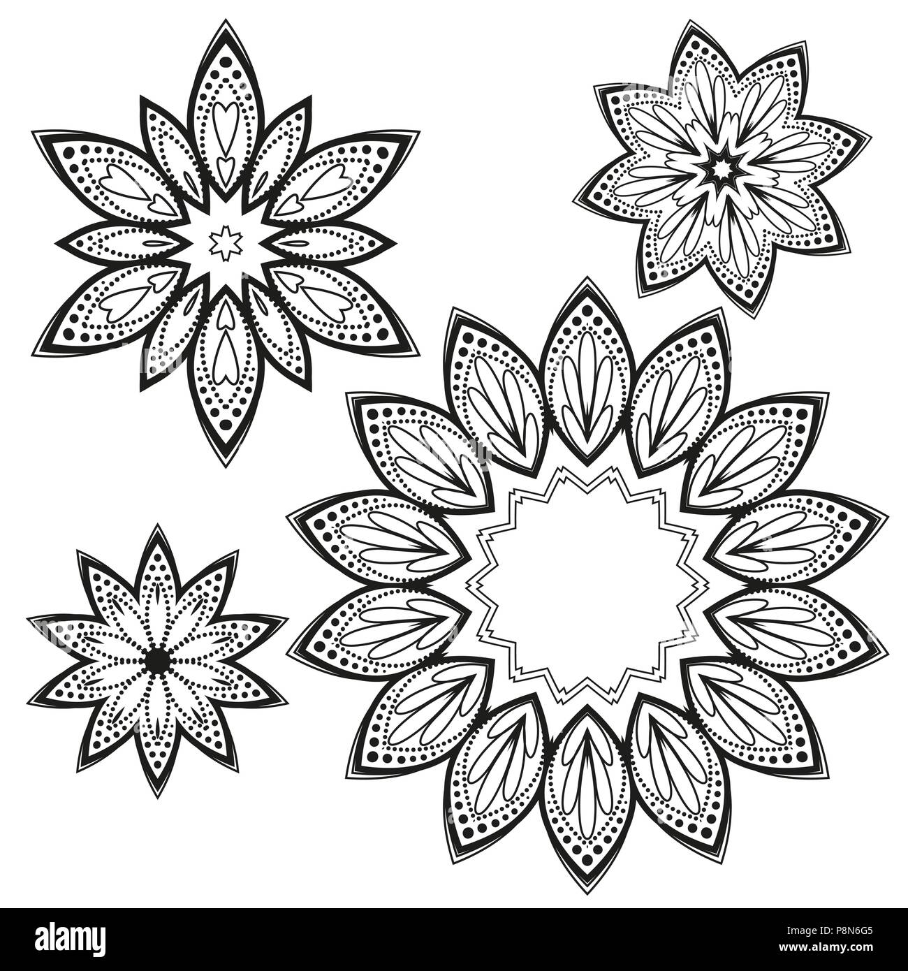 set vector floral designs