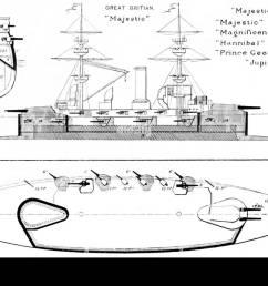 408 majestic class diagrams brasseys 1902 [ 1300 x 908 Pixel ]