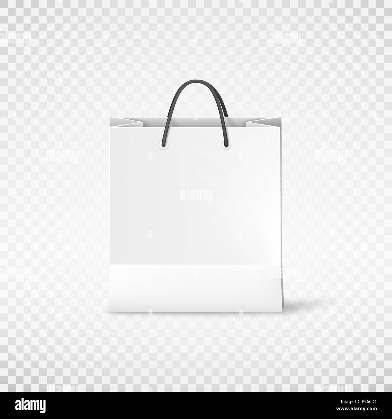 Snack product packing vector eps10 kraft paper takeaway bag mockup in vector. White Shopping Paper Bag Bag Template Vector Illustration Isolated On Transparent Background Stock Vector Image Art Alamy