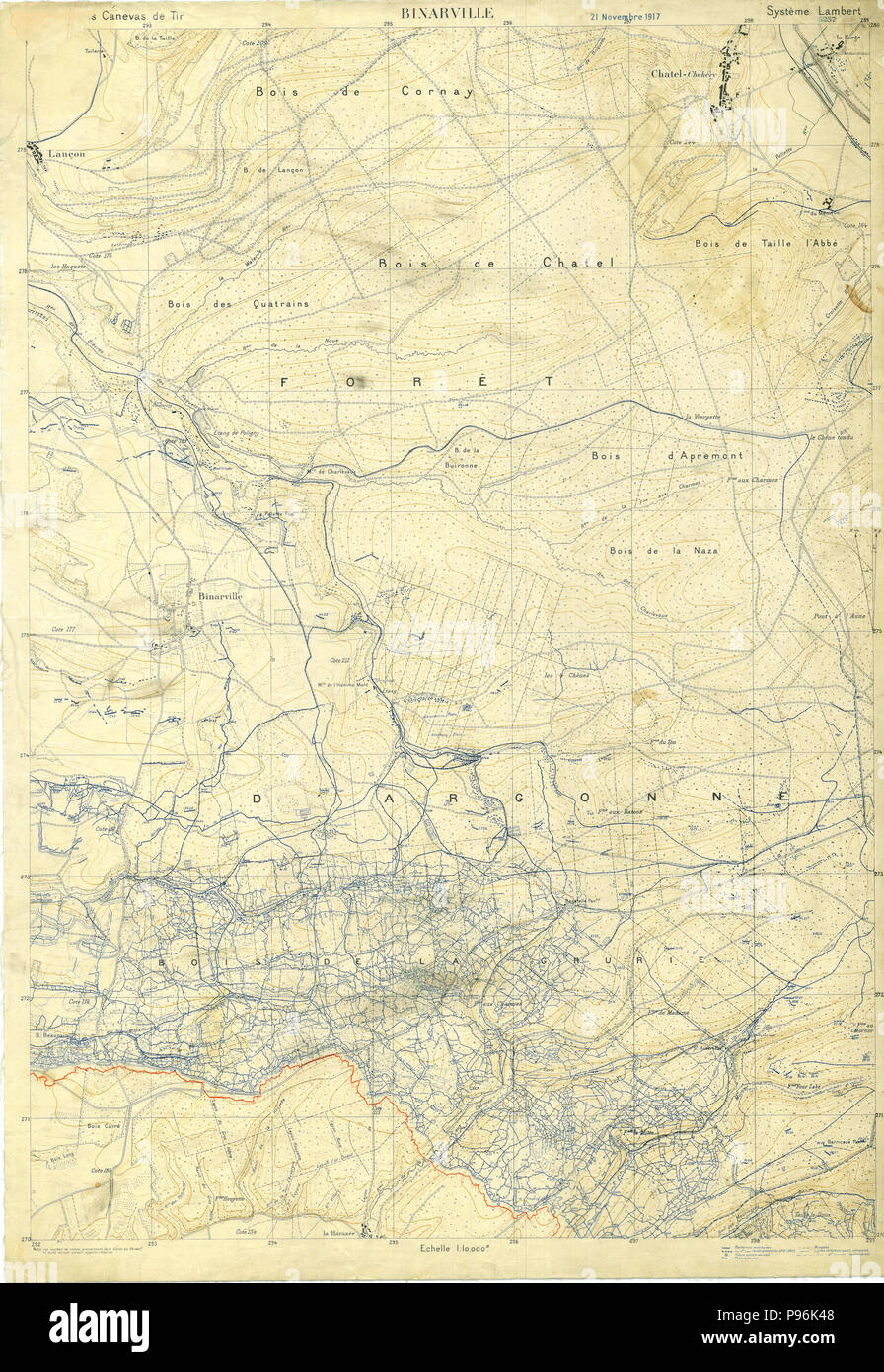 Trench Map : trench, World, Trench, Binarville,, France, November, Stock, Photo, Alamy