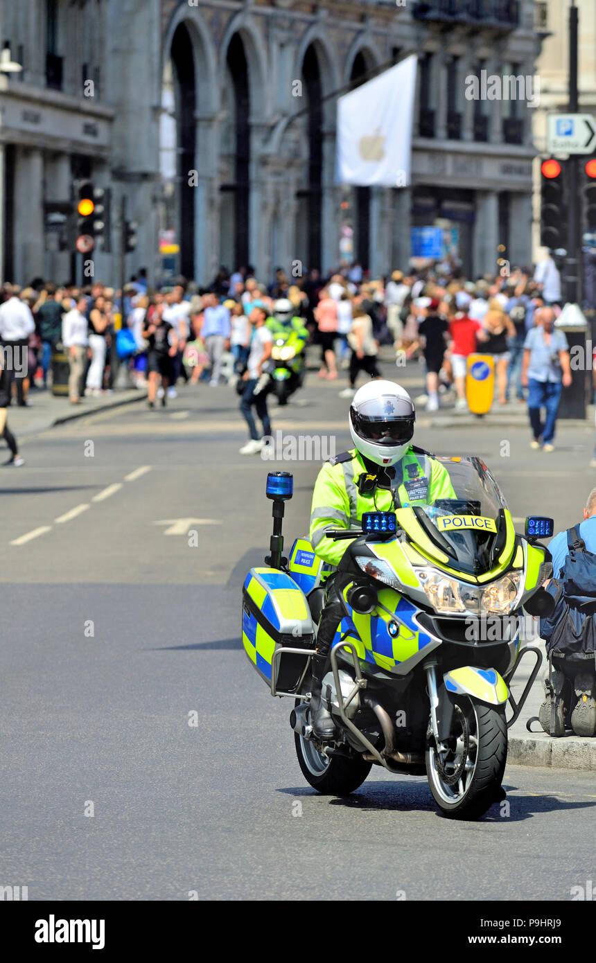 medium resolution of police motorcycle bmw r 1200 rt p in regent street london england uk