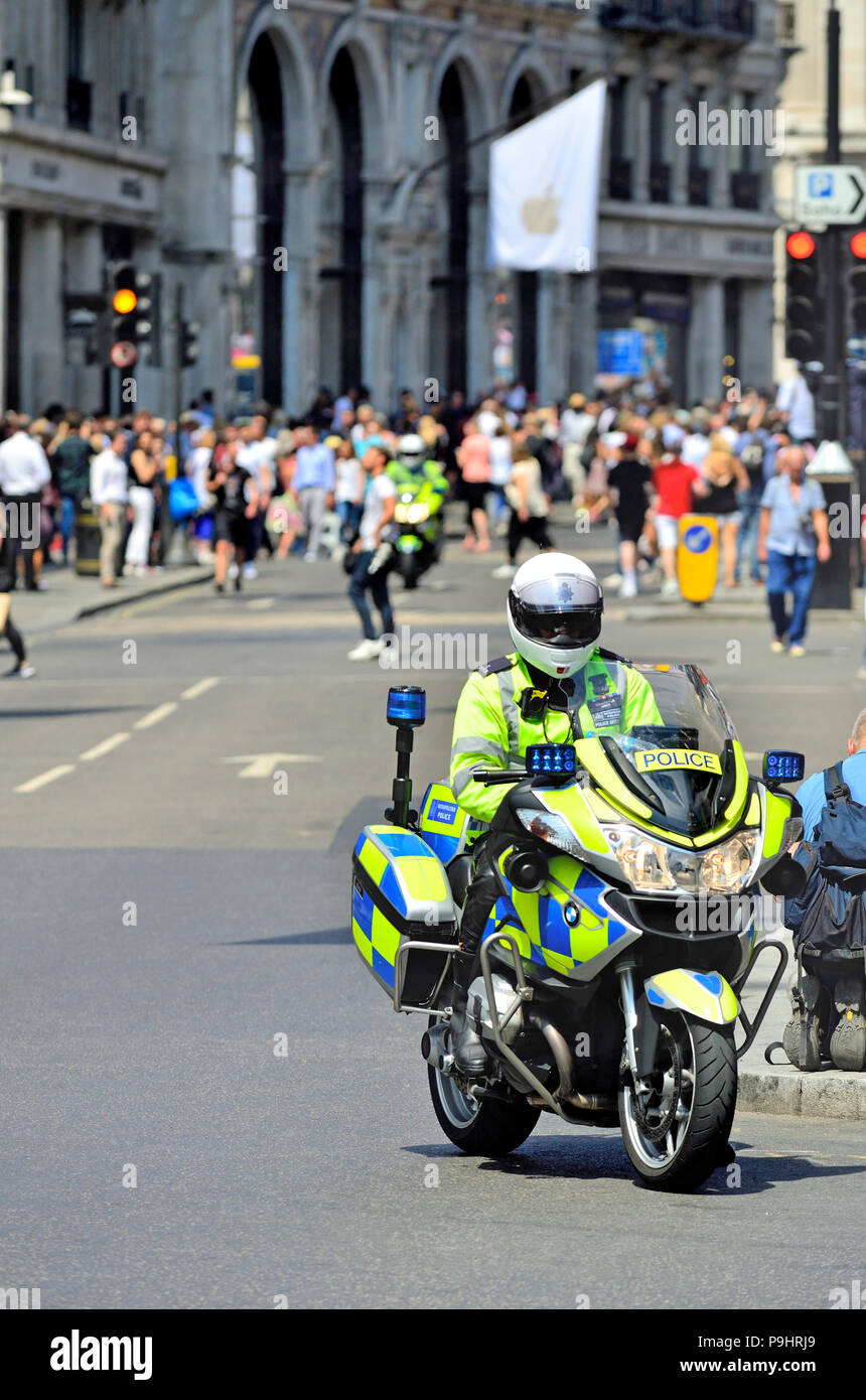hight resolution of police motorcycle bmw r 1200 rt p in regent street london england uk