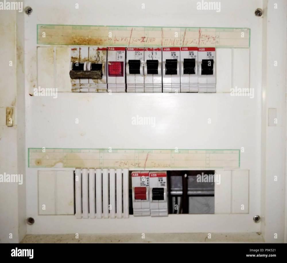 medium resolution of old greek fuse box stock image