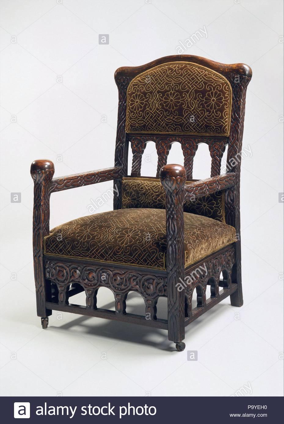 unusual armchair elegant dining room chair covers ca 1891 92 made in new york united states american oak silk velvet 45 x 28 25 1 2 114 3 71 64 8 cm furniture