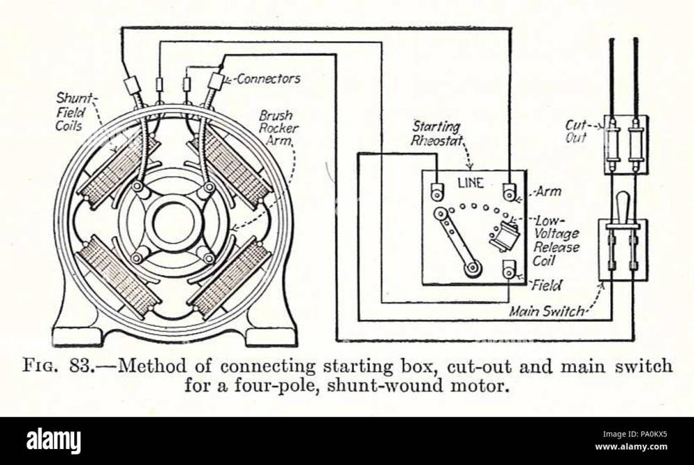 medium resolution of 613 electrical machinery 1917 shunt wound starter circuit