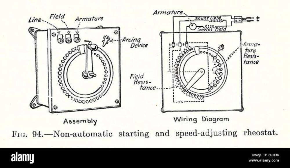 medium resolution of 613 electrical machinery 1917 starting rheostat stock image