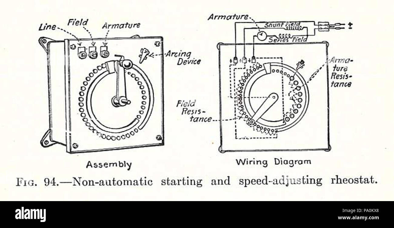hight resolution of 613 electrical machinery 1917 starting rheostat stock image