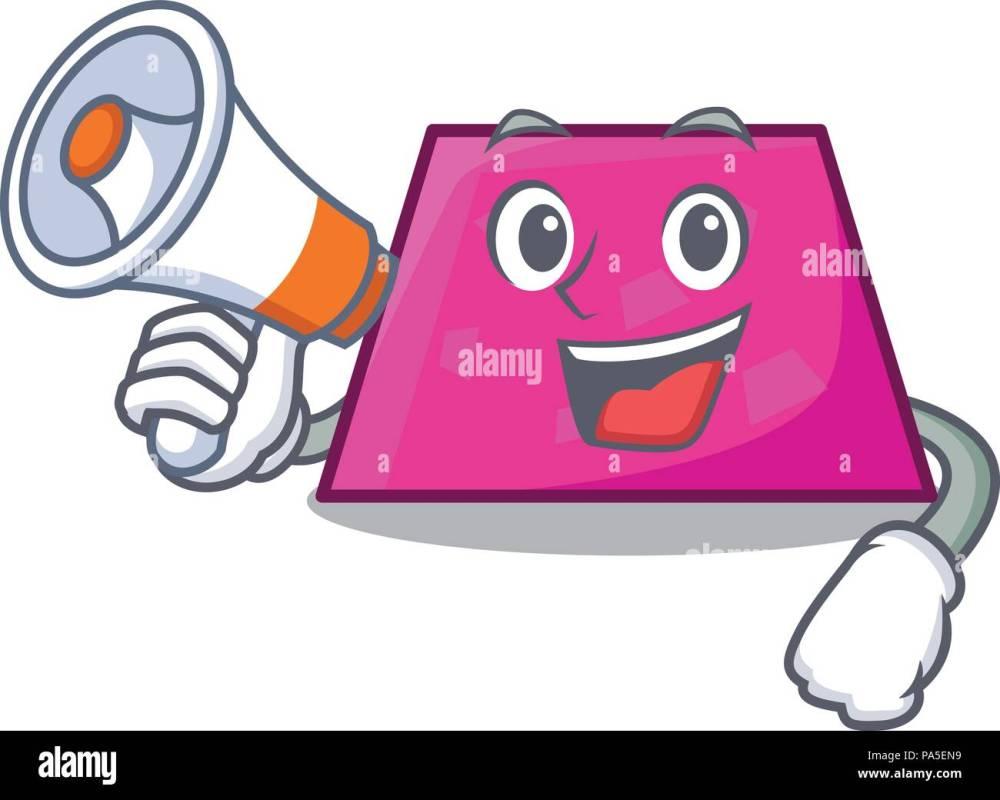 medium resolution of with megaphone trapezoid character cartoon style vector illustration