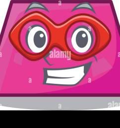 super hero trapezoid character cartoon style vector illustration [ 1300 x 645 Pixel ]