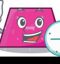 with clock trapezoid character cartoon style vector illustration stock image [ 1300 x 778 Pixel ]