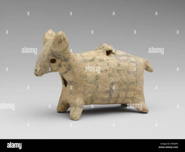Terracotta Zoomorphic Askos Vessel . Culture Cypriot