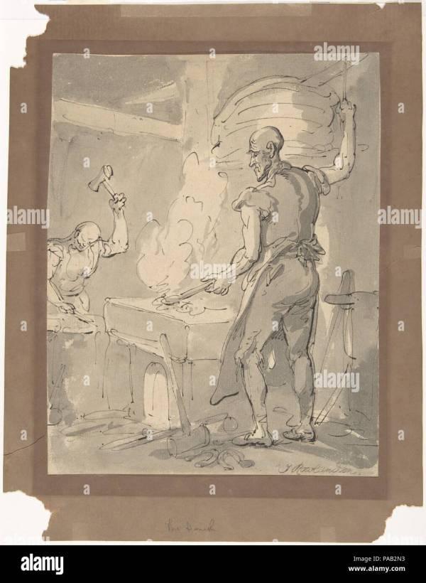 Blacksmith 19th Century Stock & - Alamy