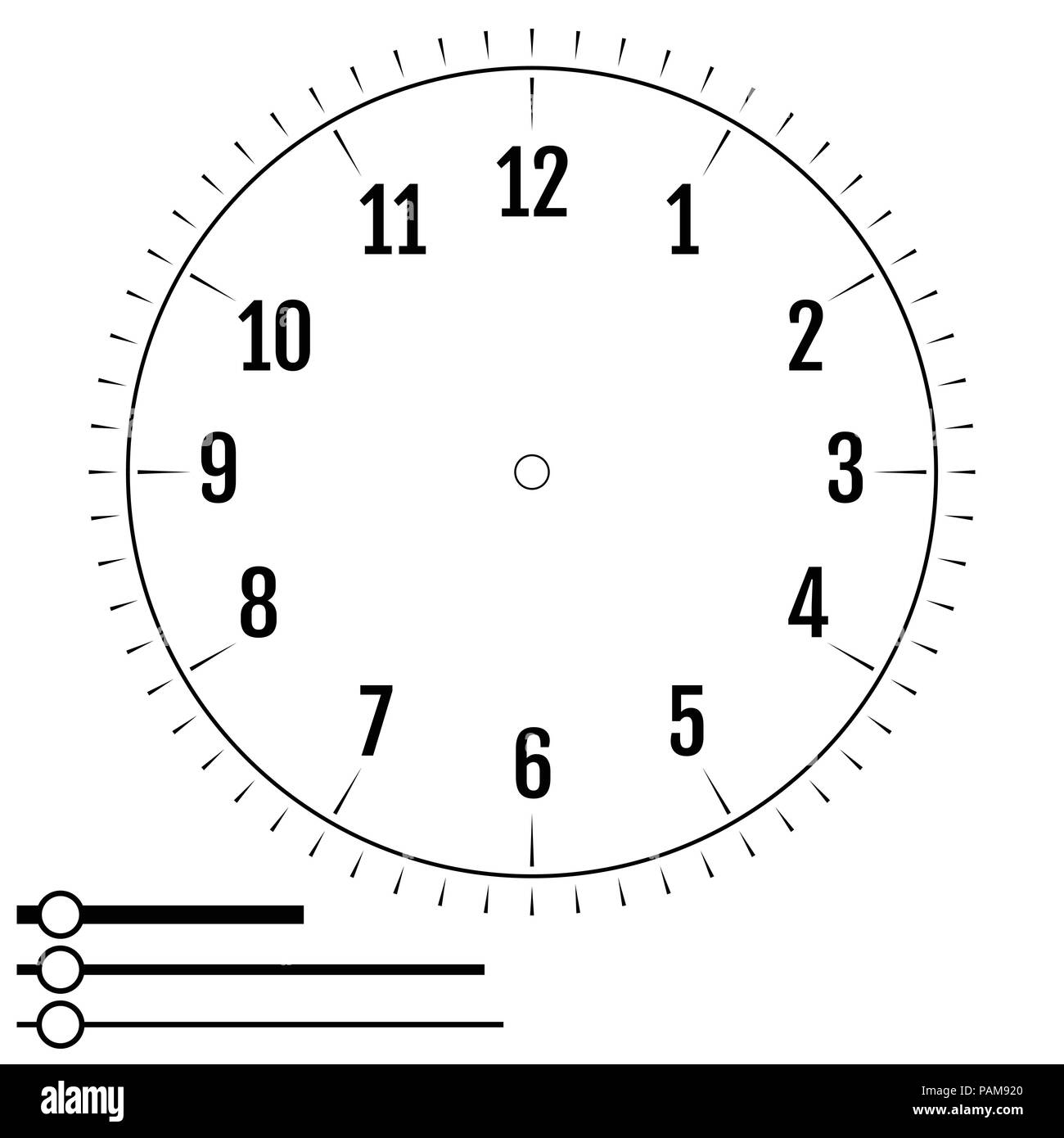 Clock Face Round Design For Men Blank Display Dial Of Mechanical Electrical Device With