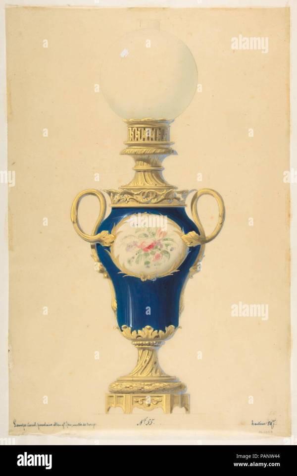 Oil Lamp 19th Century Stock & - Alamy