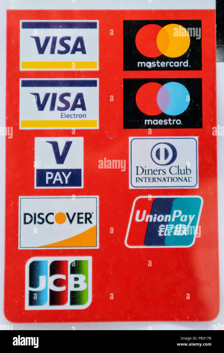 With visa and mastercard, it is easy to identify the issuing bank of each card—the bank's name is always on the card. Credit Card Brands High Resolution Stock Photography And Images Alamy