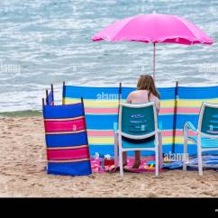 Chair Cover Hire Pembrokeshire Office Exercise Windbreaks Stock Photos And Images Alamy