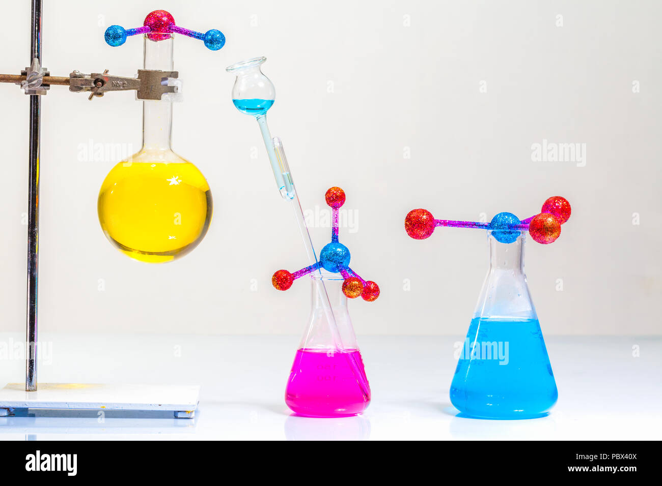 Lab Experiments Molecule Structure With Chemical